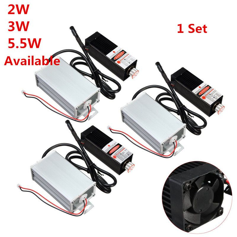 2 Watt/3 Watt/5,5 Watt 450nm DIY Mini Desktop Laserkopf Graviermaschine Modul High Power Für CNC Laserengraver Drucker/Cutter Maschine