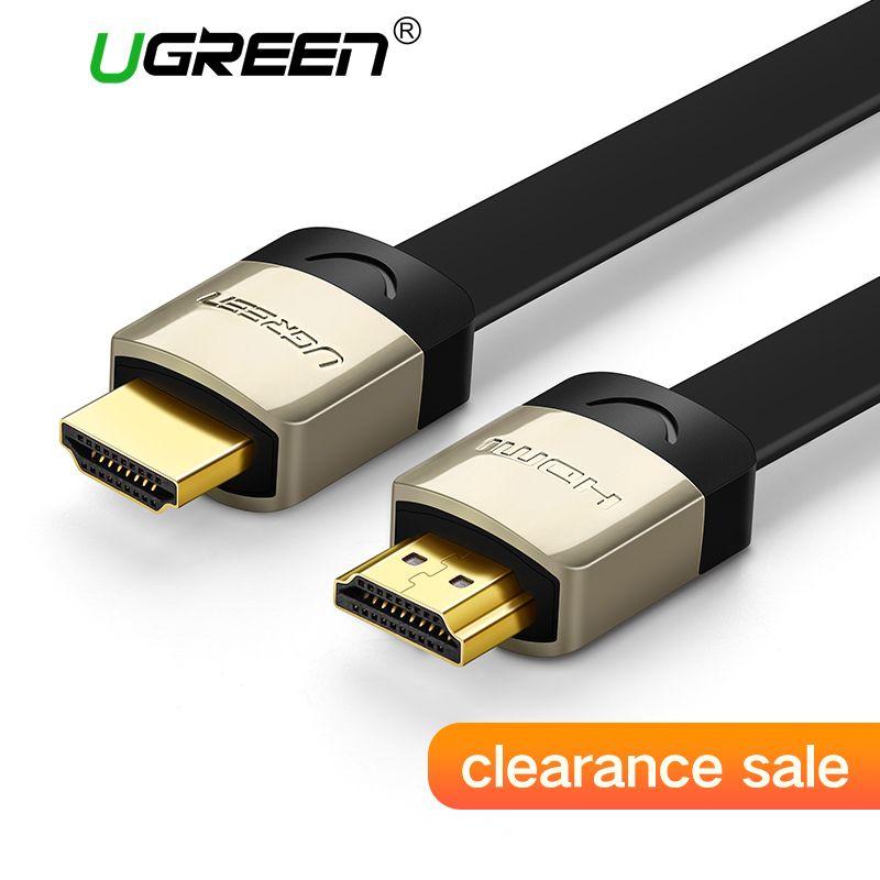 Ugreen Hdmi-kabel HDMI 2,0 Kabel 1 mt 2 mt 3 mt Stecker-stecker 4 Karat 1080 P kabel HDMI für xiaomi box PC HDTV PS3 PS4 Xbox apple tv
