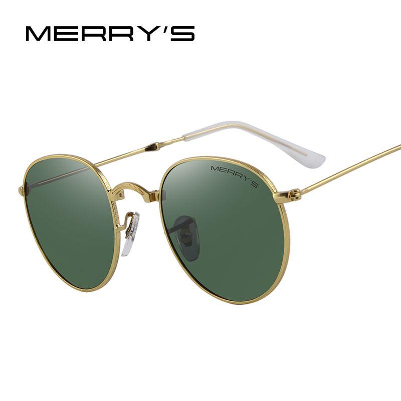 MERRY'S rétro femmes plié lunettes de soleil hommes classique polarisé ovale lunettes de soleil S'8093