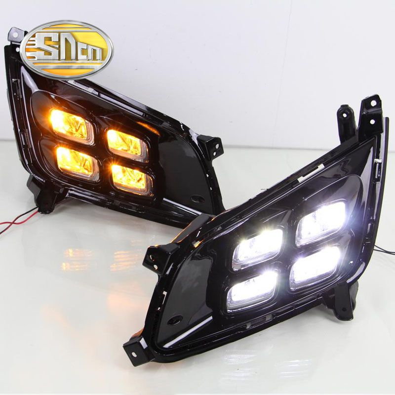 SNCN LED Daytime Running Light For Kia Optima K5 2013 2014 2015,Car Accessories Waterproof ABS 12V DRL Fog Lamp Decoration