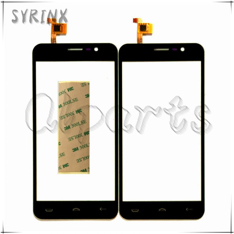 Syrinx + Tape For Homtom HT16 Sensor Touch Screen Moible Phone Touch Panel For Homtom HT16 Front Glass Lens Touchscreen Touchpad