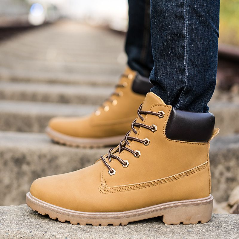 2018 New Autumn Winter Boots Men Suede Leather Unisex Fashion Snow boots Male Work Shoes <font><b>Lover</b></font> Martin Boot Large Plus size39--46