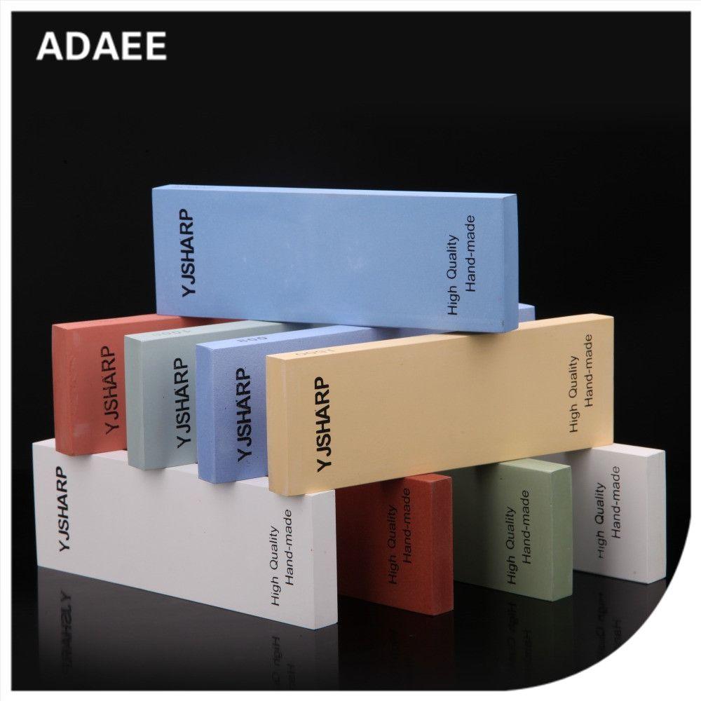 Adaee aiguiseur de couteaux professionnel pierre de meulage simple face adapté pour l'extérieur divers outils avec taille 7.1 x 2.4 x 0.6