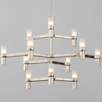Nemo crown minor chandelier 3 layers 12 heads Postmodern Art Lighting Lobby Villa Stairs Droplight Candle Crown Chandeliers