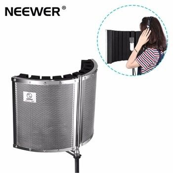 Neewer Foldable Microphone Acoustic Isolation Shield with Lightweight Metal Alloy, Acoustic Foams, Mounting Brackets and Screws