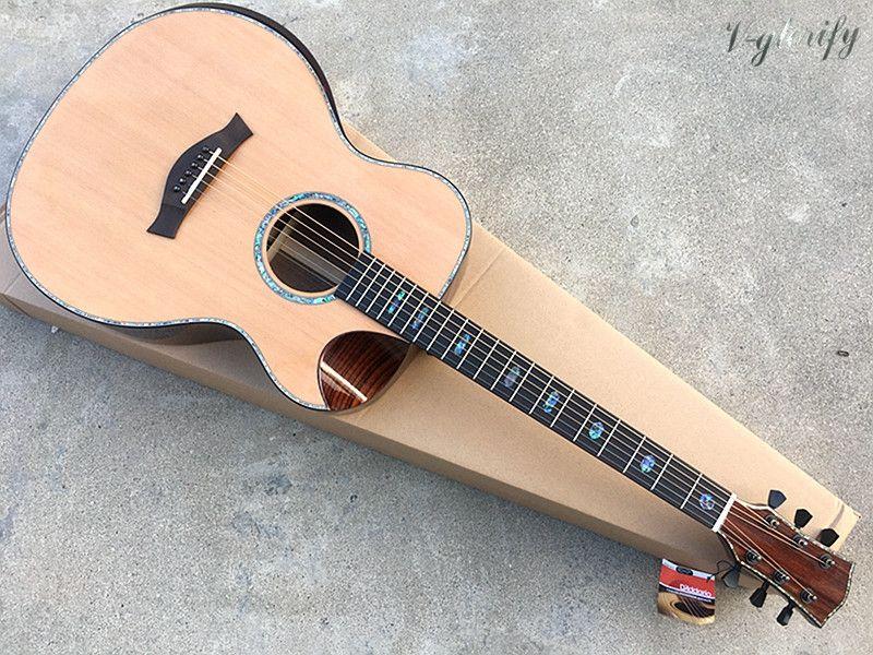 40 zoll high grade red cedar top professionelle akustische gitarre mit radiant ecke