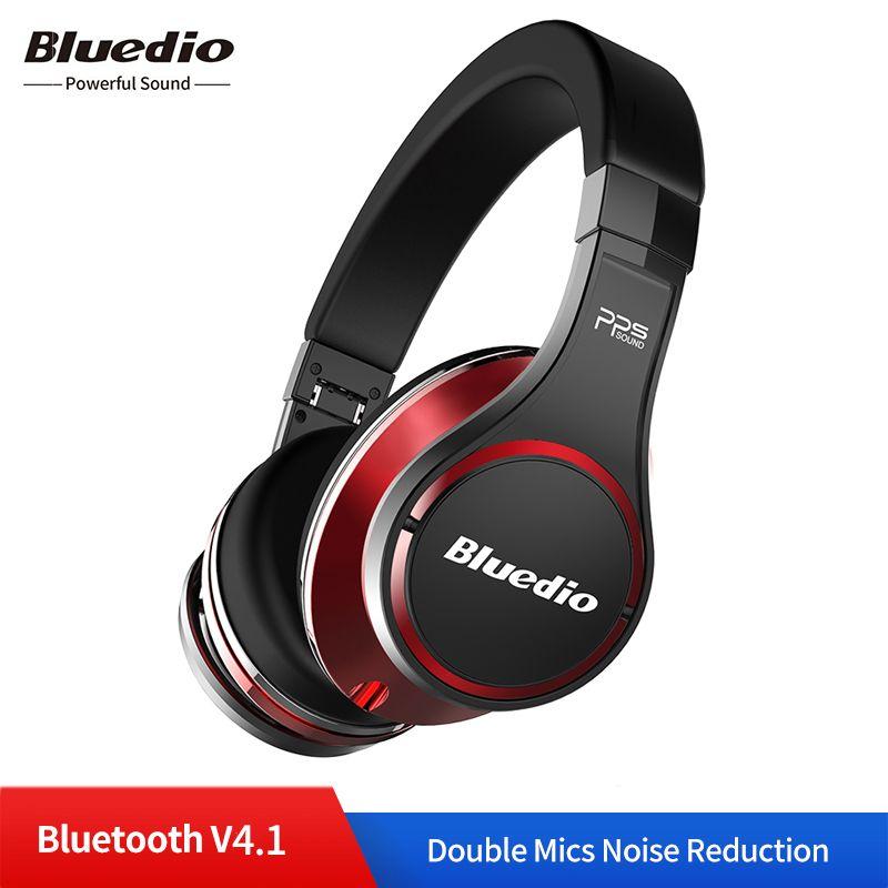 Original Bluedio U UFO Drahtlose Bluetooth Kopfhörer 3D Surround Hohe-Ende Echte Patentierte 8 Treiber HiFi Sport Headset mit mic