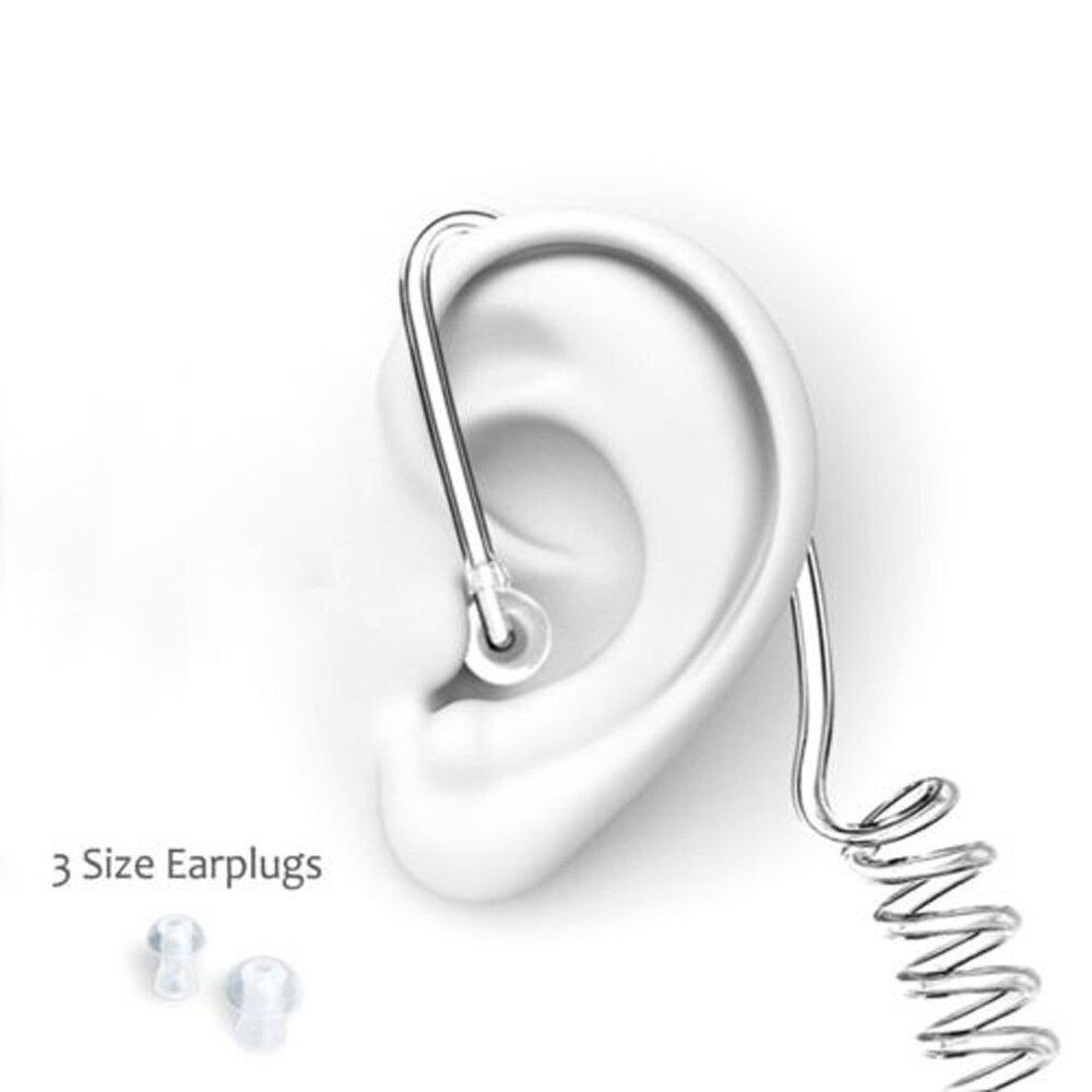 FBI Style Cool In-ear Headset Radiation protection Earphone monitor Earpiece Talkabout Mini Walkie Air duct earbuds