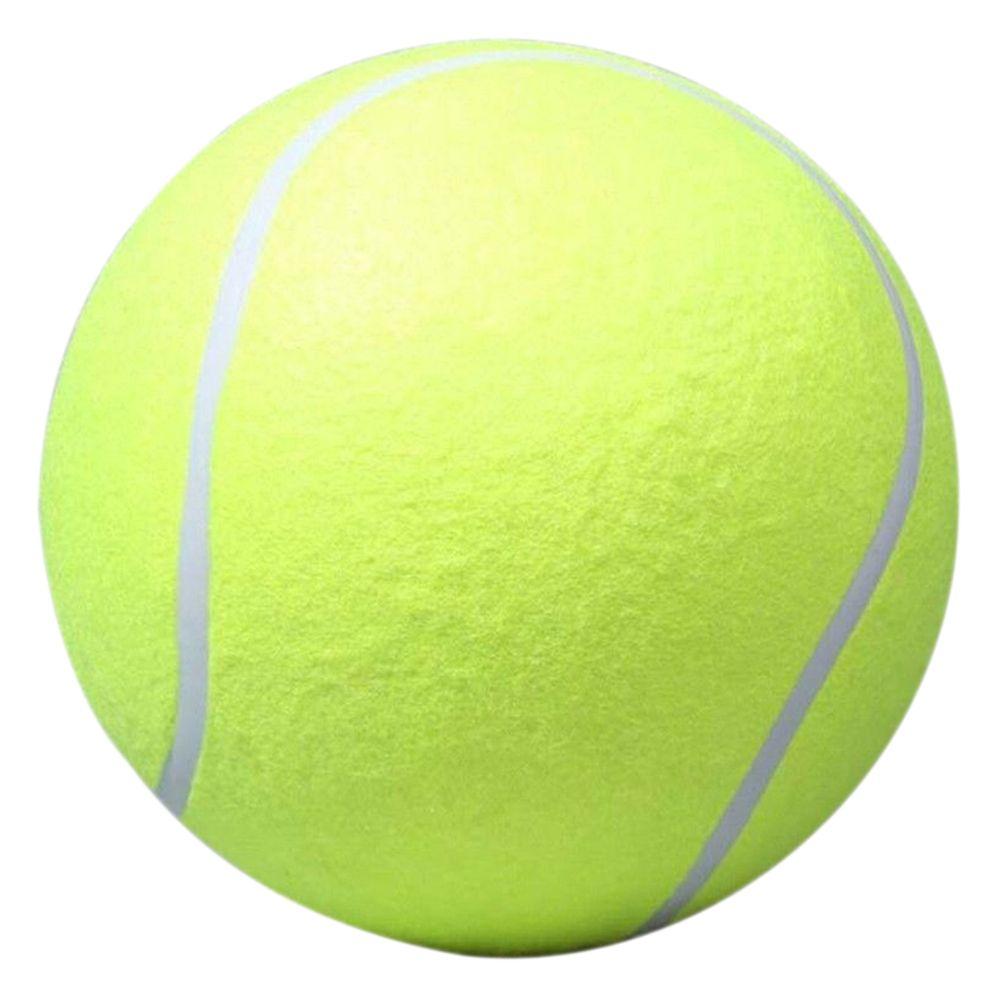 Promoción 24 cm Gran Bola de Perro para Mascotas Mascota de Juguete Cachorro Chew Lanzador de Pelotas De Tenis inflable Chucker Pelota Lanzador de Juguete para Perros