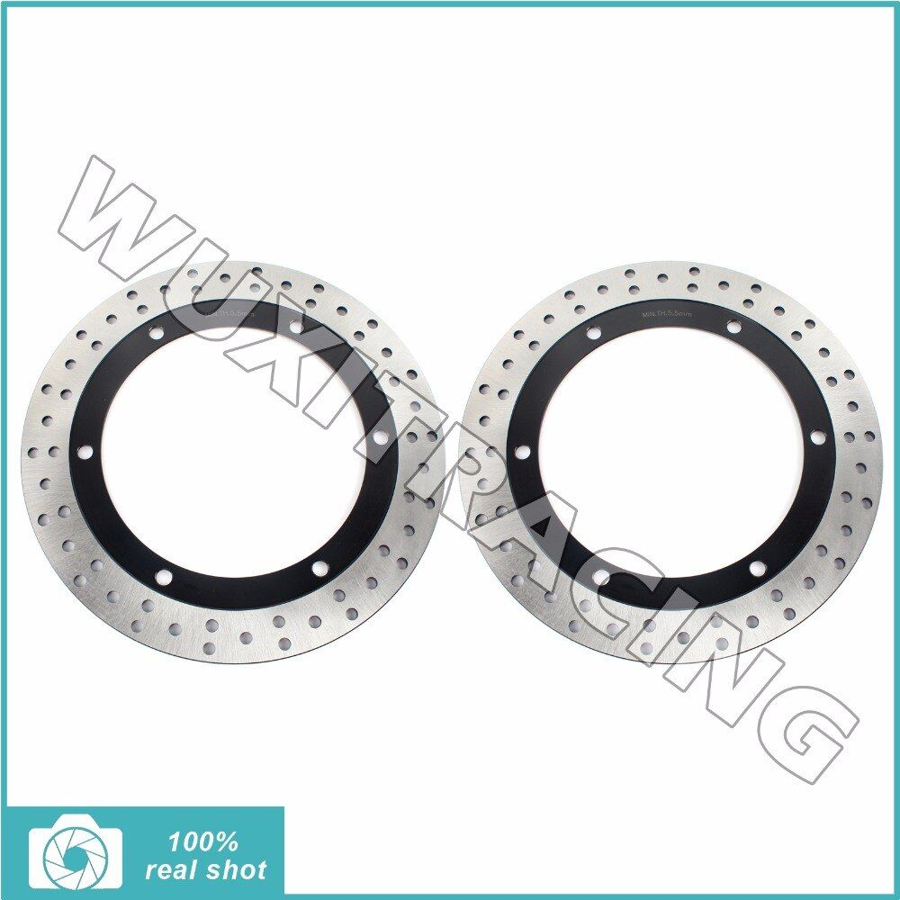 2pcs New Front Brake Discs Rotors for HONDA GL 1500 Goldwing A SE I Interstate 88-00 89 91 92 93 94 GLX 1500 Goldwing SE 90-2000