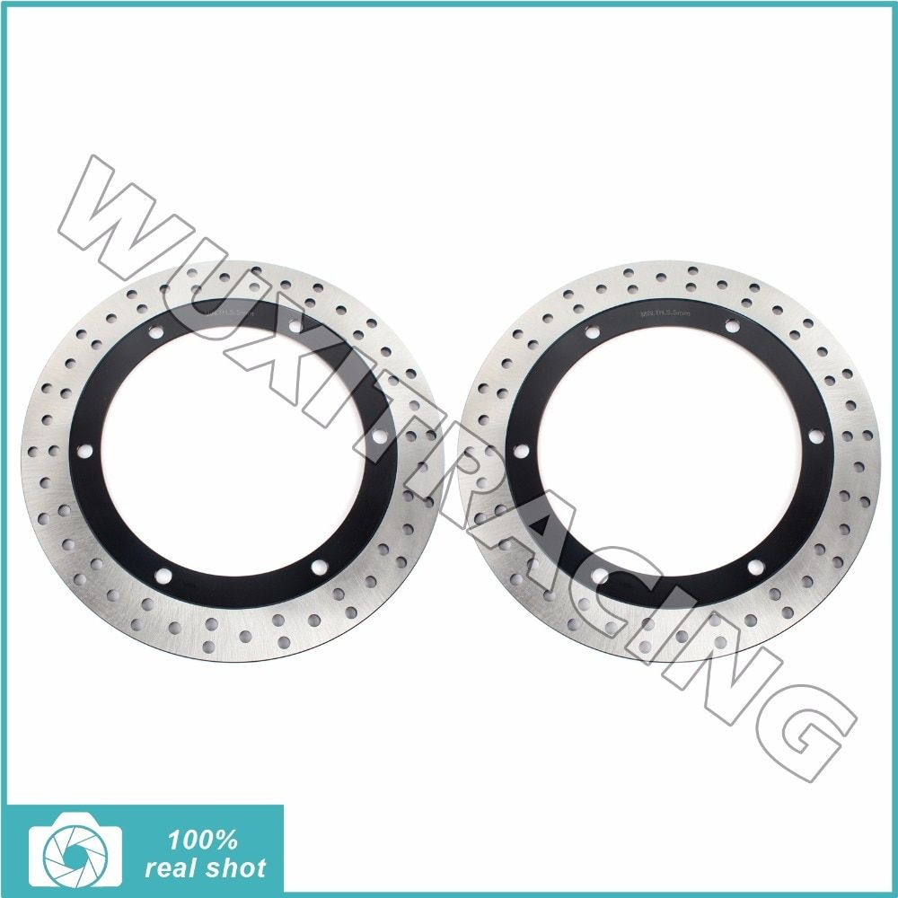 2pcs New Front Brake Discs Rotors for HONDA GL 1500 Goldwing A SE I Interstate 88-00 89 91 92 93 94 GLX 1500 Goldwing SE 90-2000