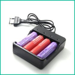 4 Slots Intelligent Battery Smart Charger For Electronic Cigarette Charger 4X 18650 lithium-ionBattery Chargercharging.