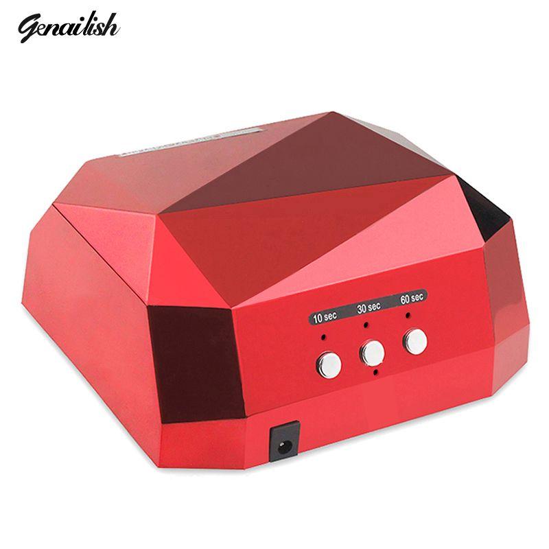 Genailish 36 W Lampe UV Nail Sèche-LED UV Lampe pour Ongles Gel sèche-Nail Lampe Diamant Forme Durcissement pour UV Gel Vernis À Ongles Art outils