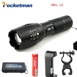 Flashlight E17 CREE XM-L2 8000LM Tactical cree Led Torch Zoom cree LED Flashlight Torch light For 3xAAA or 1x 18650 battery