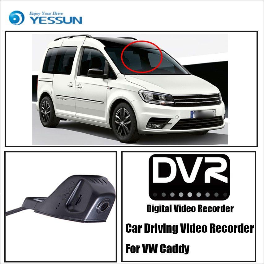 YESSUN Für Volkswagen Caddy Auto Front Dash Kamera CAM-Für iPhone Android APP Control Funktion/DVR Fahren Video recorder