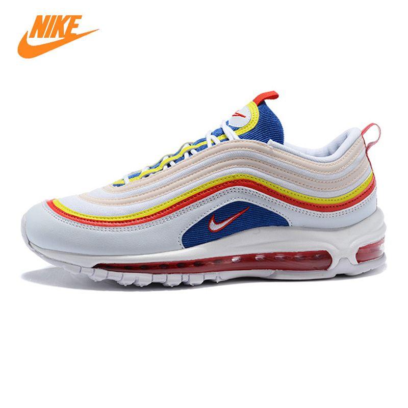 Nike Air Max 97 Sommer Vibes männer und frauen Laufschuhe, Weiß, schock-Absorbieren Atmungsaktiv Nicht-Slip Leichte AQ4137 101