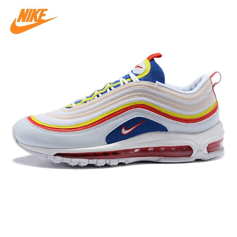 Nike Air Max 97 Summer Vibes Men's and Women's Running Shoes, White, Shock-Absorbing Breathable Non-Slip Lightweight AQ4137 101