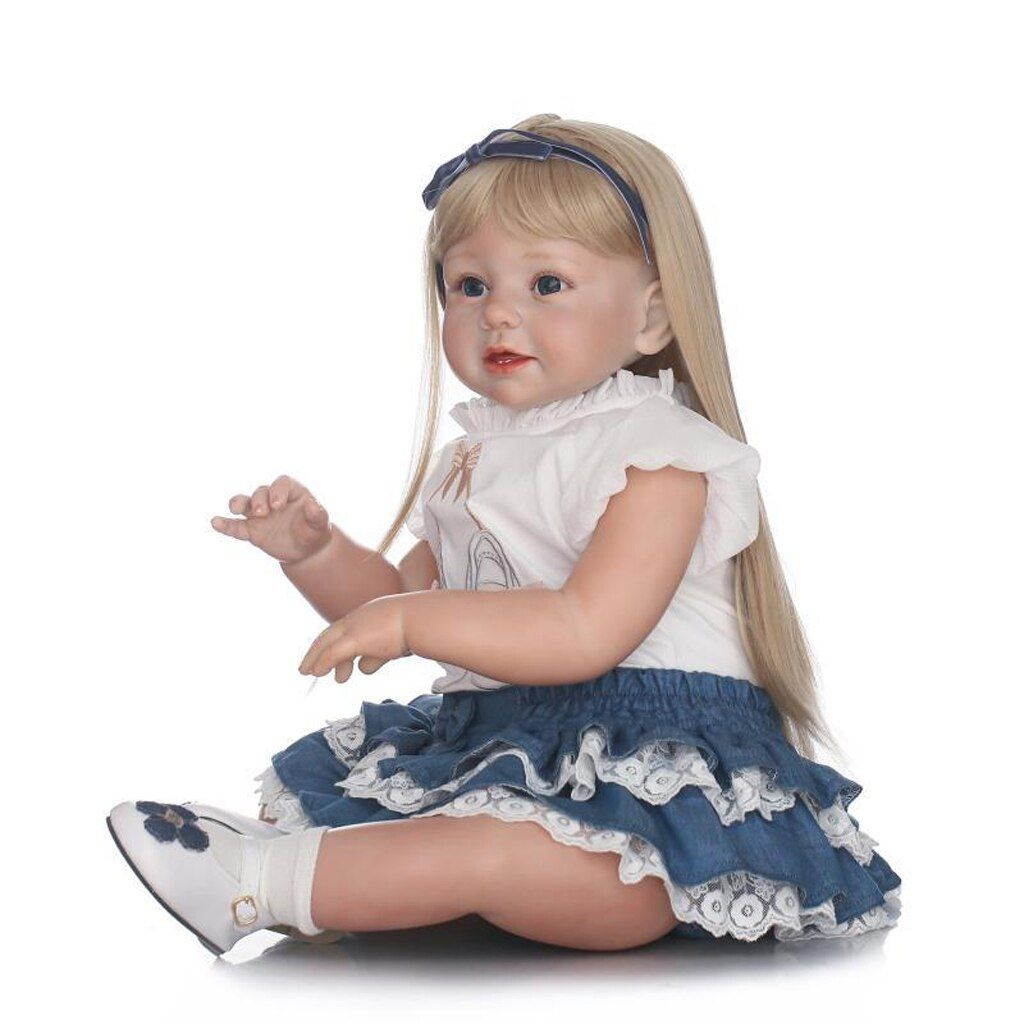 Blank 28 inch Reborn Kit Head 3/4 Arms Full Legs Mold & Cloth Body Baby Newborn Doll Kids Birthday Gift