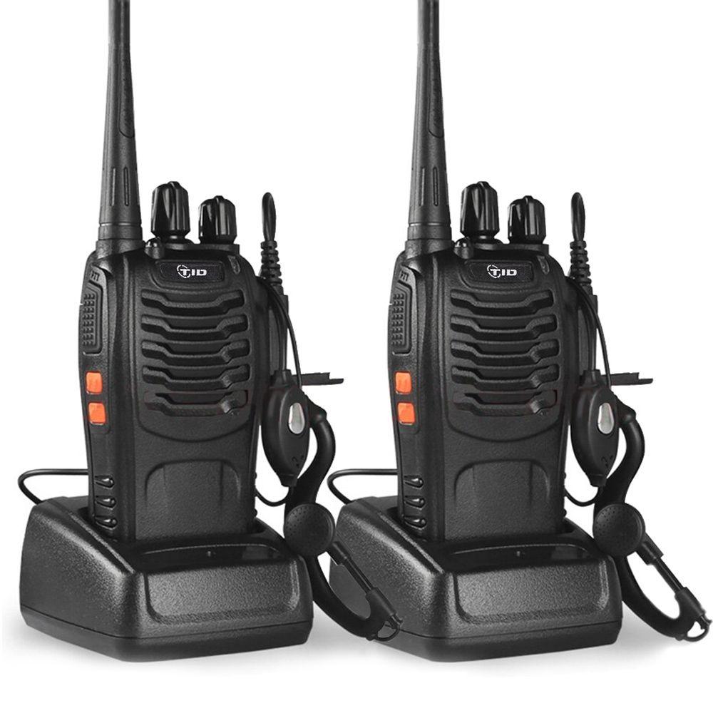 2pcs TID TD-V2 Walkie Talkie Handheld 16CH UHF 400-470MHz Portable Radio Station CB Radio Communicator Hf Transceiver telsiz
