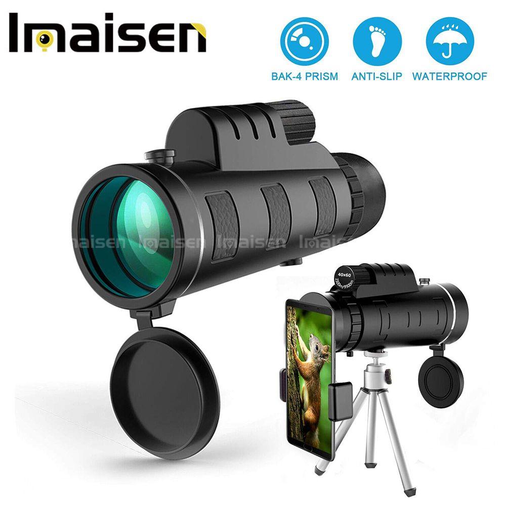 40X60 HD télescope monoculaire Portable téléobjectif prisme optique lentille de téléphone Portable