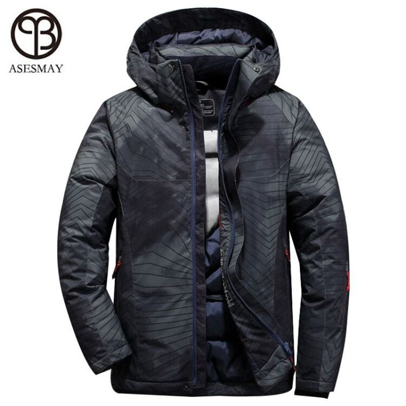 Asesmay New Arrival men down jacket men's winter coats casual thick goose feather parkas wellensteyn hoodies male down jackets