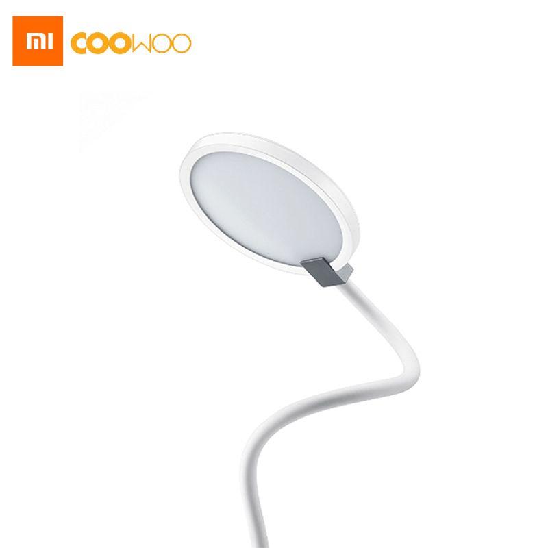 Nouveau xiaomi coowoo led lampe de bureau œil protéger multi-fonction double USB Port de Charge 4000 mAh Construit Dans La Batterie 8 Heures éclairage