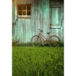 Seamless Vinyl Photography Backdrop Old House Door Bicycle Computer Printed Children Backgrounds for Photo Studio S-2637
