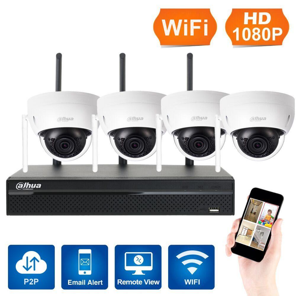 Auf Lager 1080 P 4CH Wireless NVR CCTV-System WiFi 3MP IR Outdoor Dome P2P IP Kamera Wasserdichte Sicherheit Videoüberwachung Kit