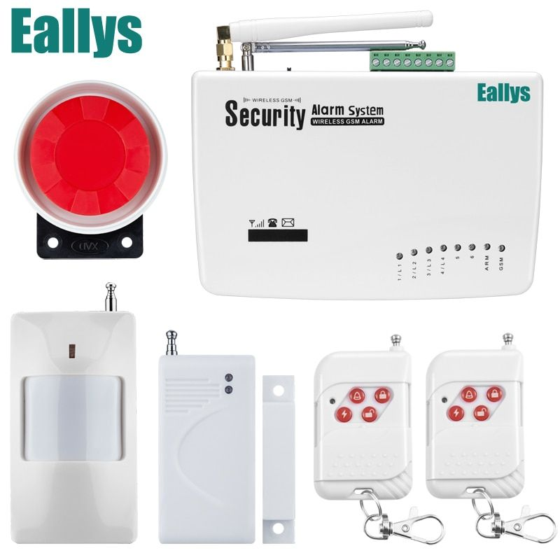 Wireless GSM Alarm System Dual Antenna Alarm Systems Security Home Wireless Signal 900/1800/1900MHz support Russian/English
