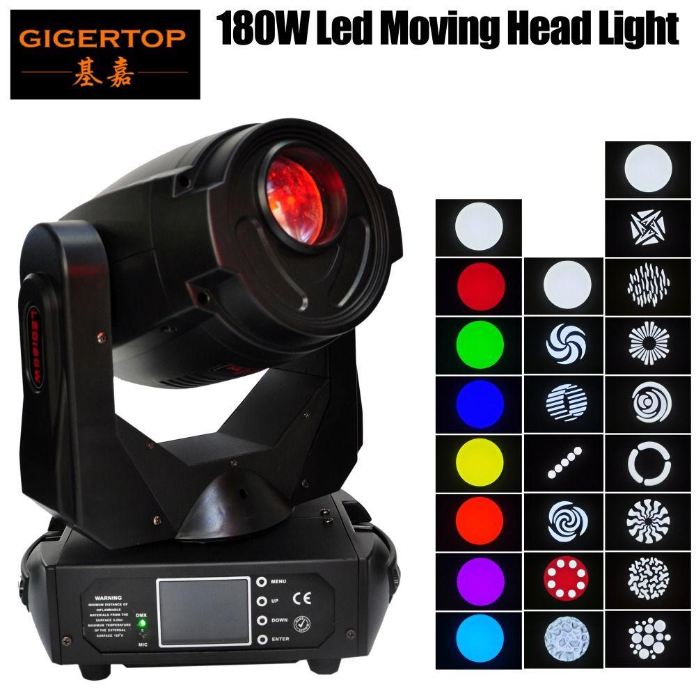 TP-L680 180W TIPTOP DJ Led Moving Head Spot Fixture Separate Color & Gobo Wheels Motorized Focus 4-button DMX 512 LED Display