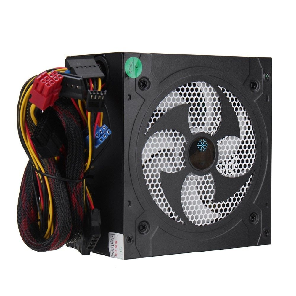 Desktop Power 500W Quiet Power Switching 12V ATX BTC Power <font><b>Supply</b></font> SATA 20PIN+4PIN Power <font><b>Supply</b></font> Computer Chassis For Intel AMD PC