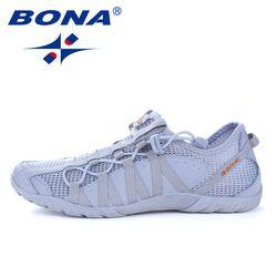 BONA Baru Populer Gaya Pria Menjalankan Sepatu Lace Up Athletic Sepatu Luar Walkng jogging Sneakers Nyaman Cepat Gratis Pengiriman