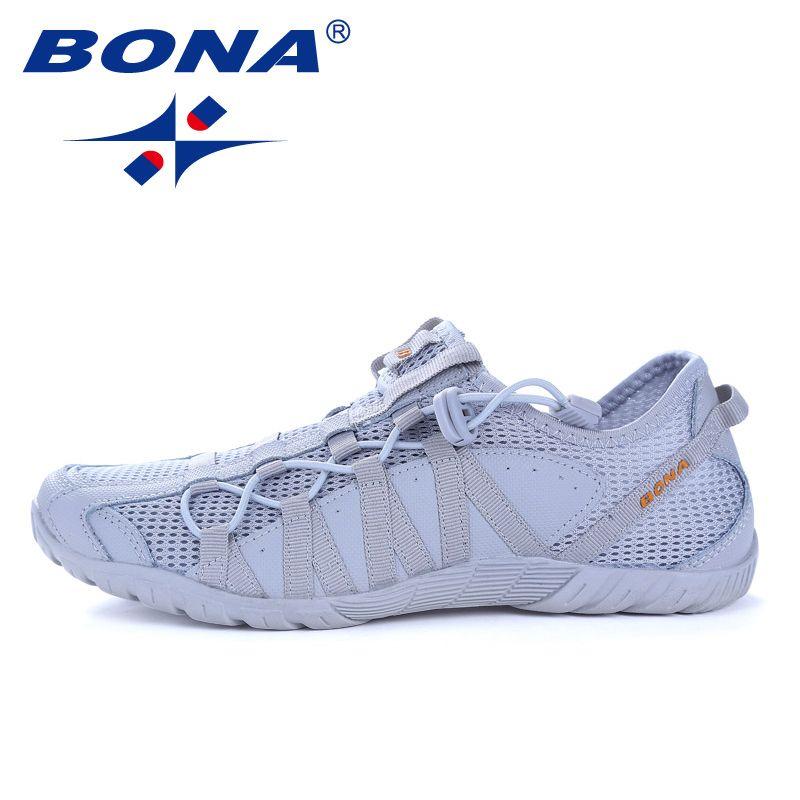 BONA nouveau Style populaire hommes chaussures de course à lacets chaussures de sport en plein air Walkng jogging baskets confortable livraison gratuite rapide