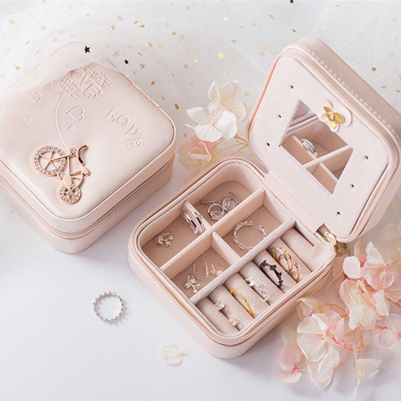 Bijoux boîte d'emballage Boîte Cercueil Pour Exquis étui de maquillage Cosmétiques rangement pour maquillage Conteneur Boîtes Graduation cadeau d'anniversaire