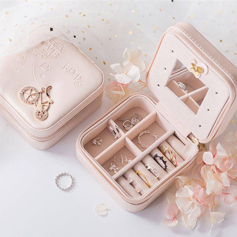 Jewelry Packaging Box Casket Box For Exquisite Makeup Case Cosmetics Beauty Organizer Container Boxes Graduation Birthday Gift