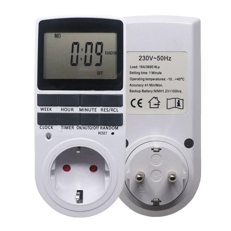 Ketotek électronique numérique minuterie interrupteur EU FR BR prise cuisine minuterie sortie 230V 50HZ 7 jour 12/24 heure Programmable prise de synchronisation