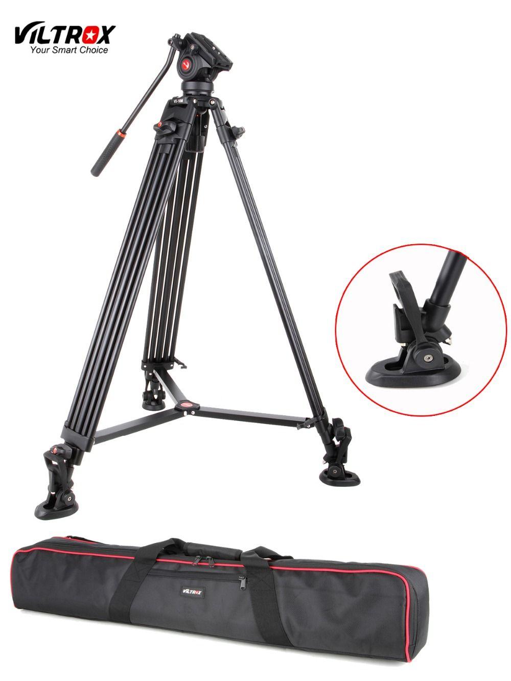 1.8 M Viltrox VX-18M Pro Heay Duty Aluminium Vidéo Trépied + Fluide Pan Tête + Sac De Transport pour Caméra DV DSLR Très Stable