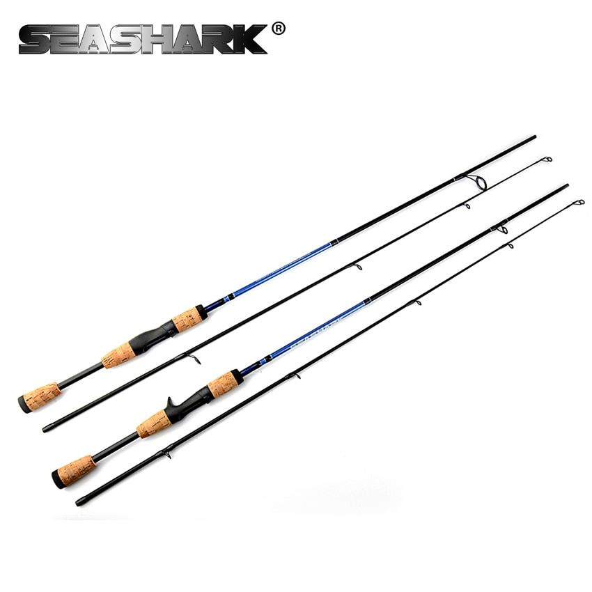 SEASHARK Fishing rod M Power 2 Section <font><b>Line</b></font> W 6-12LB Lure W 1/4-3/4oz Spinning Rod 1.8 M Wooden Handle Casting Rod