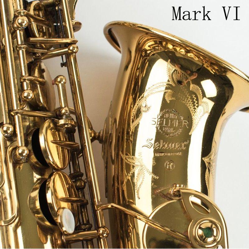 Fedex DHL Free Copy Selmer Mark VI Alto Saxophone Near Mint 97% Original Lacquer Gold Sax Alto Eb with mouthpiece ,case,gloves