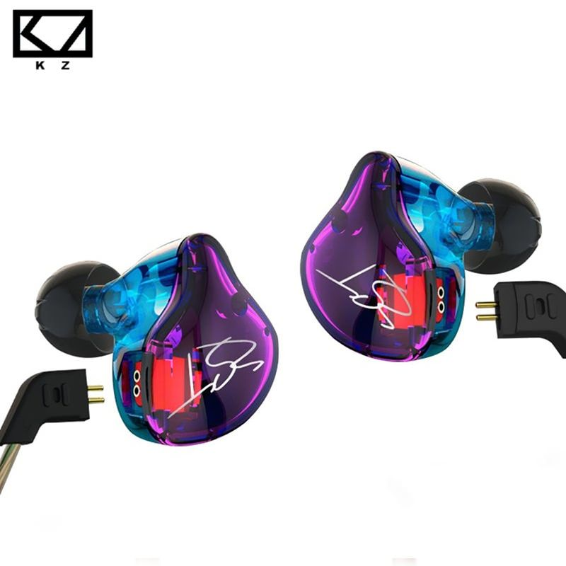 KZ ZST Colorful Balanced Armature With Dynamic In-ear Earphone BA Driver Noise Cancelling <font><b>Headset</b></font> With Mic Replacement Cable