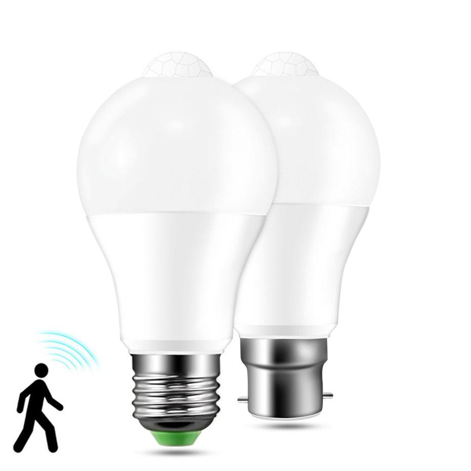 E27 PIR Lampe Birne 12 watt 18 watt Led-lampe PIR Motion Sensor B22 AC85-265V LED Nacht Licht Für Flur gang Treppen Balkon Lampada