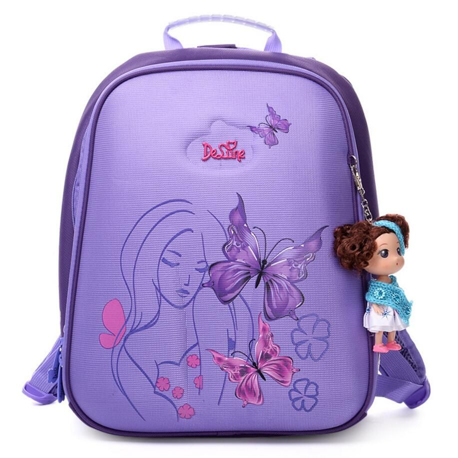 New High Quality Orthopedic Waterproof Children School Bags Girls Primary 1-5 Grade School Backpack Kids Birthday Gift Mochila