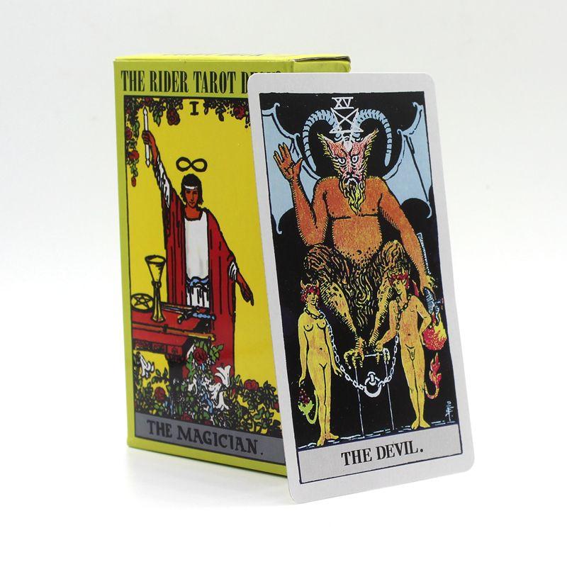 78 pièces/ensemble 6 Options cartes de Tarot d'attente de cavalier de qualité Dragon/Animal/rayonnant/le pont de Tarot de cavalier/jeu de société classique de Tarot