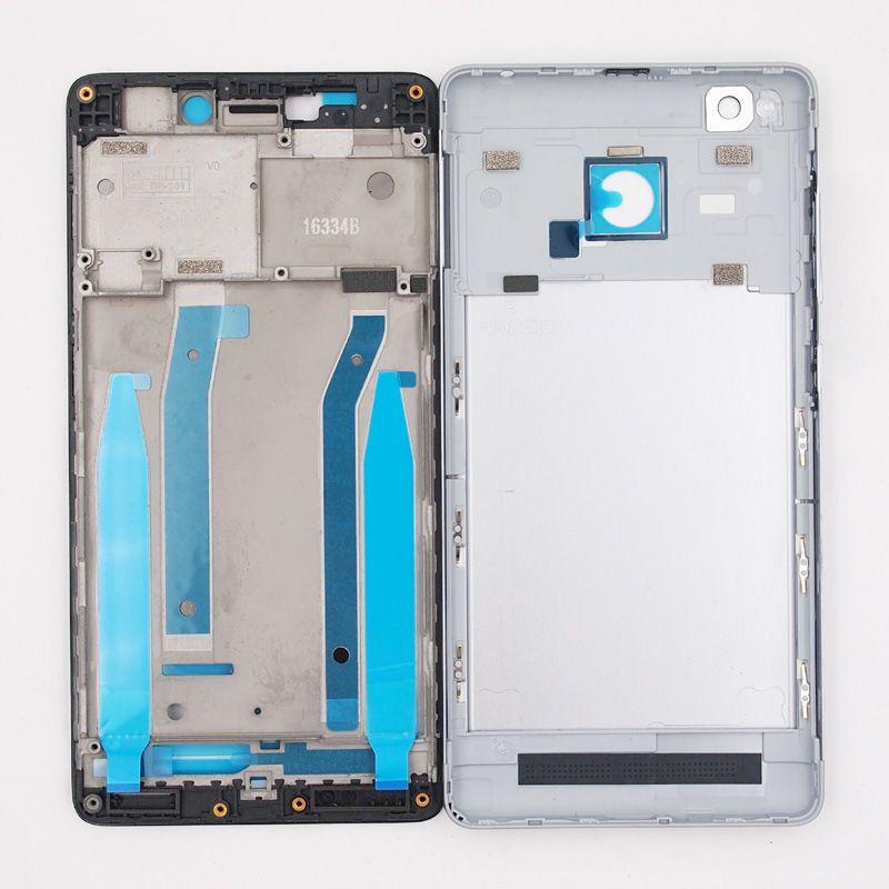 Chaude Avant Cadre LCD Cadre Batterie Porte Logement de Couverture Arrière Cas pour Xiaomi Redmi 3 s Redmi 3 Pro 3pro Avec Puissance Volume boutons
