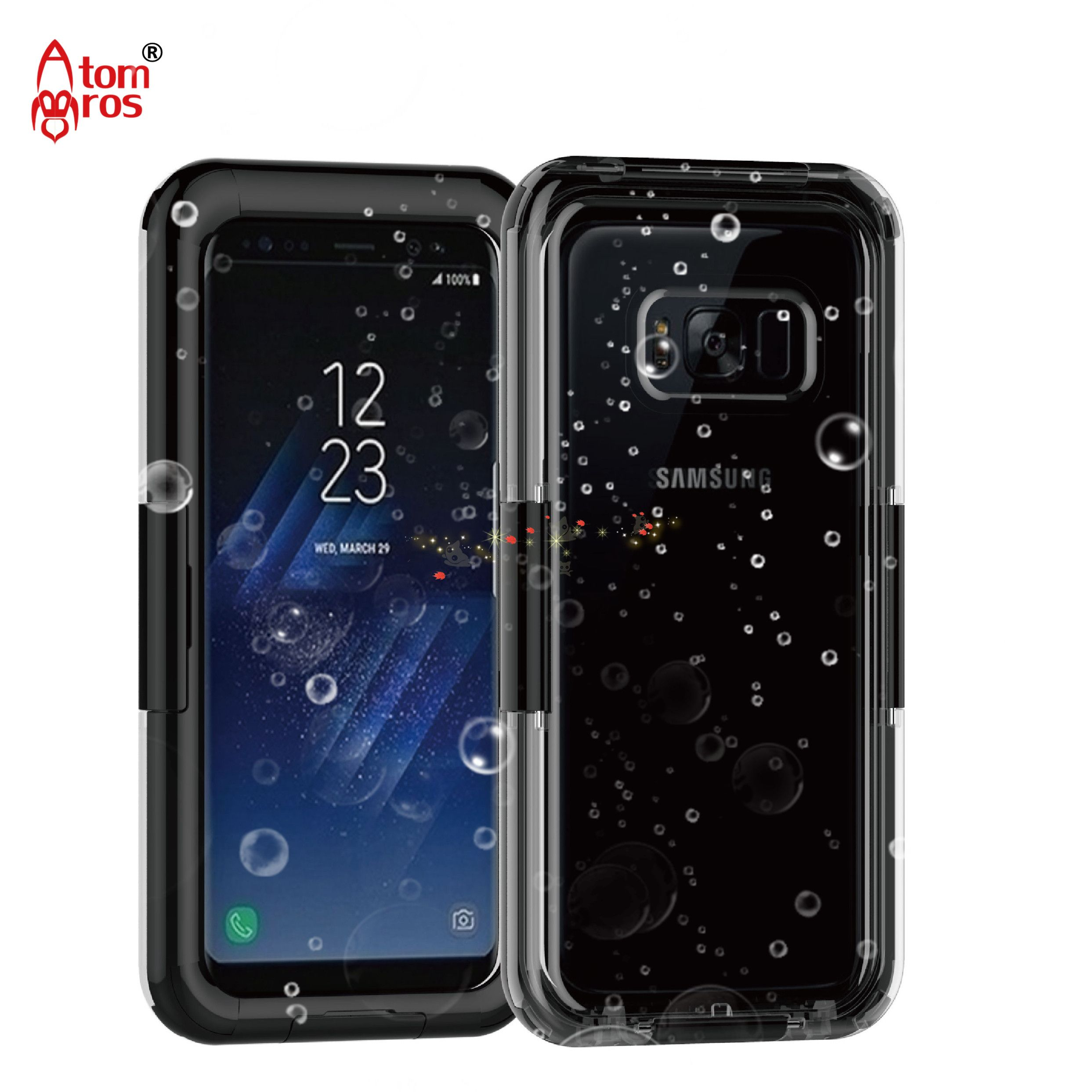 IP68 100% Waterproof Cover Case For Samsung Galaxy S8 / S8 Plus Case Underwater 6M Plastic Protective Shockproof Dirtproof Cases