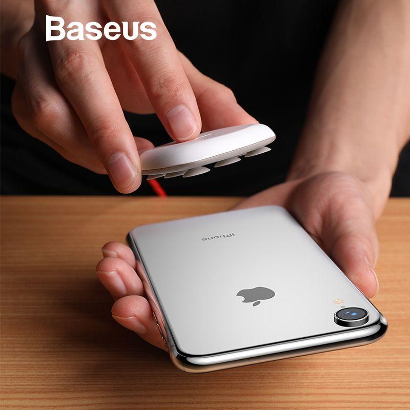Baseus Spinne Saugnapf Drahtlose Ladegerät Für iPhone XR XS Max Tragbare Schnelle Drahtlose lade Pad Für Samsung Hinweis 9 8 S9 + S8