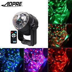 Диско-шар свет сценическое вечерние освещение Вечеринка огни Музыка активация магический шар мини лазерный сценический Свет USB штекер для ...