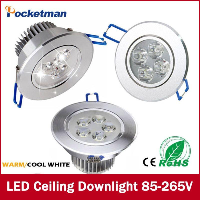 1 Stücke 9 Watt 12 Watt 15 Watt AC85V-265V 110 V/220 V FÜHRTE Decke Downlight einbau LED wandleuchte Spot-licht Mit Led-treiber Für Privatanwender beleuchtung