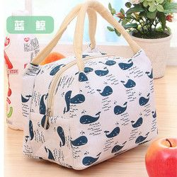 2018 Hot Variety Pattern Lunch Bag Portable Insulated Canvas Unch Bag Thermal Food Picnic Lunch Bags For Women Kids