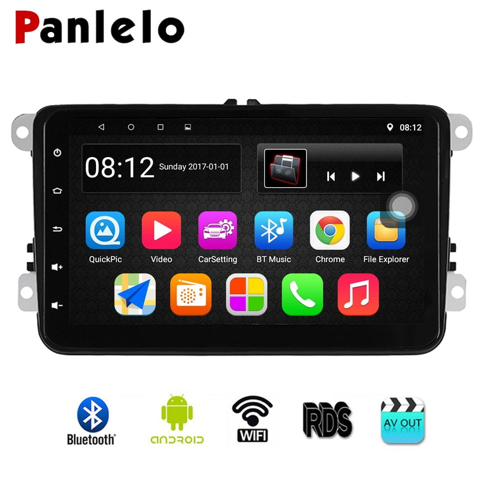 Panlelo S8 forVW Android Autoradio GPS Navigation 8 inch Car Stereo Radio Multimedia Player For Polo Golf 4 Passat B6 B5 B7 2din